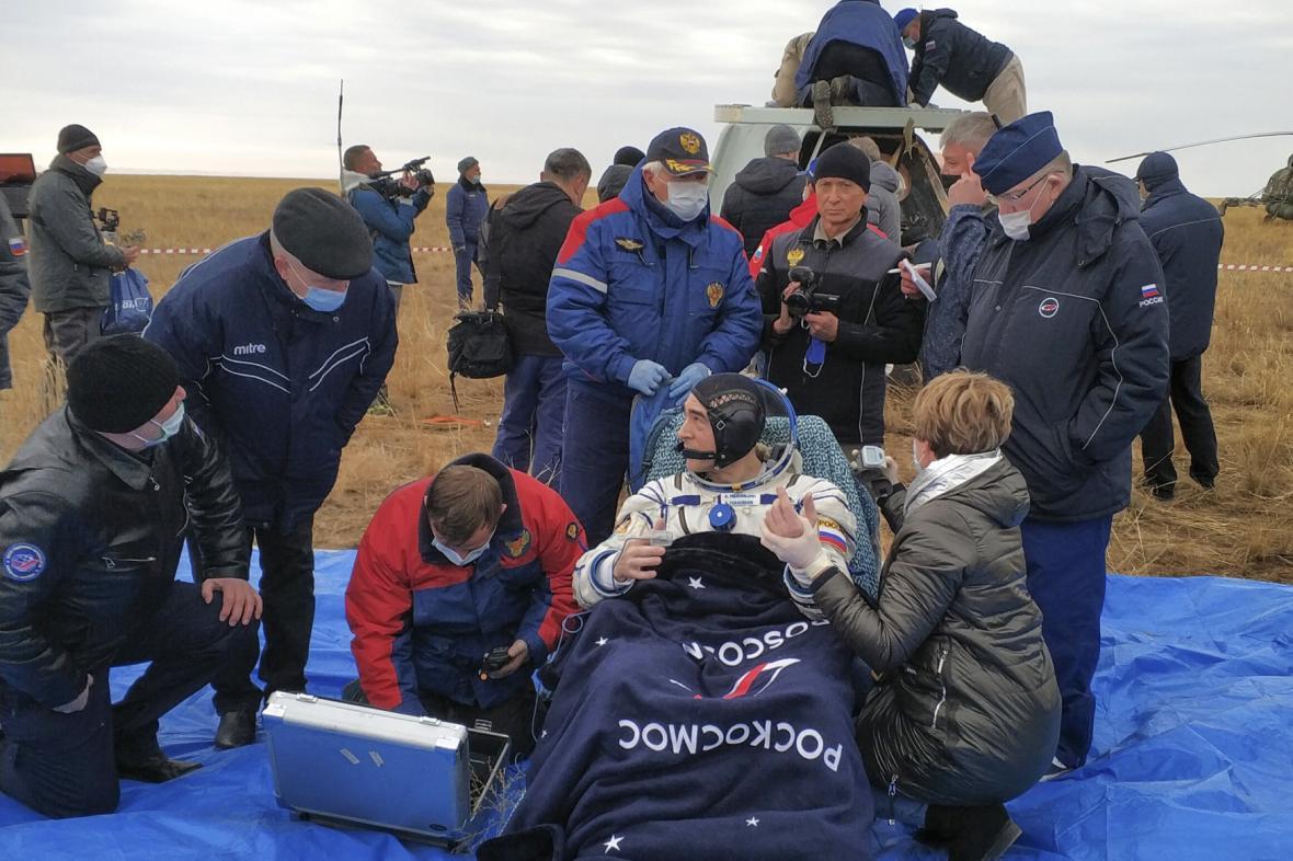 Přistání astonautů z ISS
