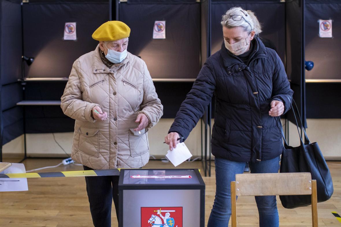 Parlamentní volby ve Vilniusu v Litvě