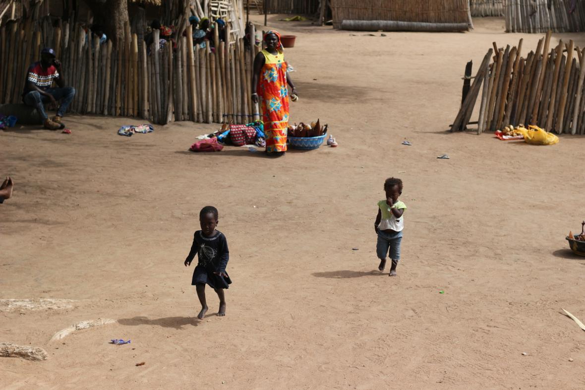 Vesnice v Senegalu, ilustrační foto
