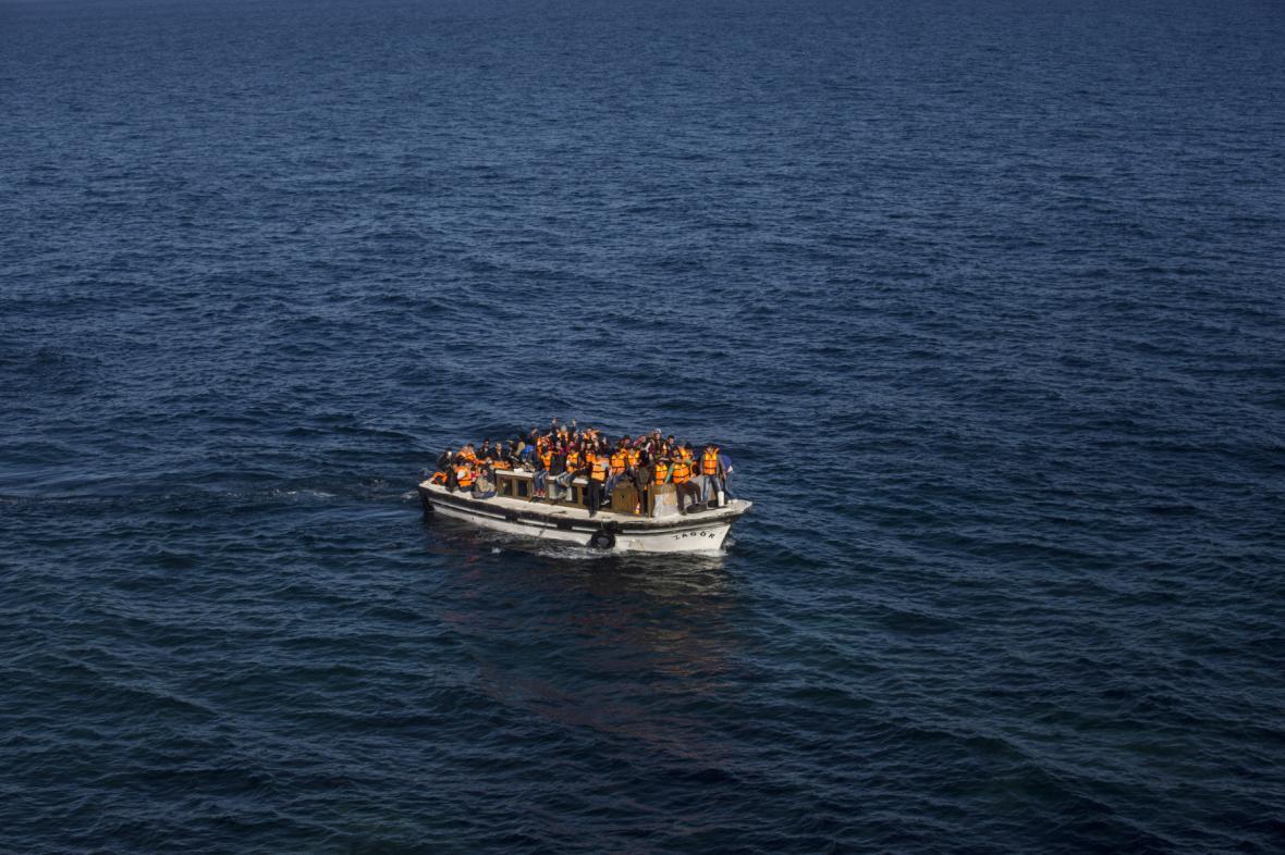 Turečtí uprchlíci v Egejském moři