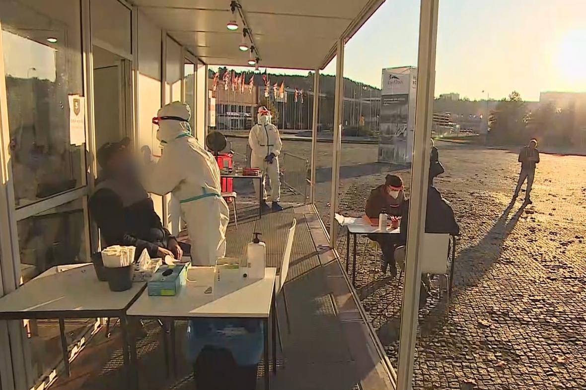 Veřejný test point před výstavištěm v Brně