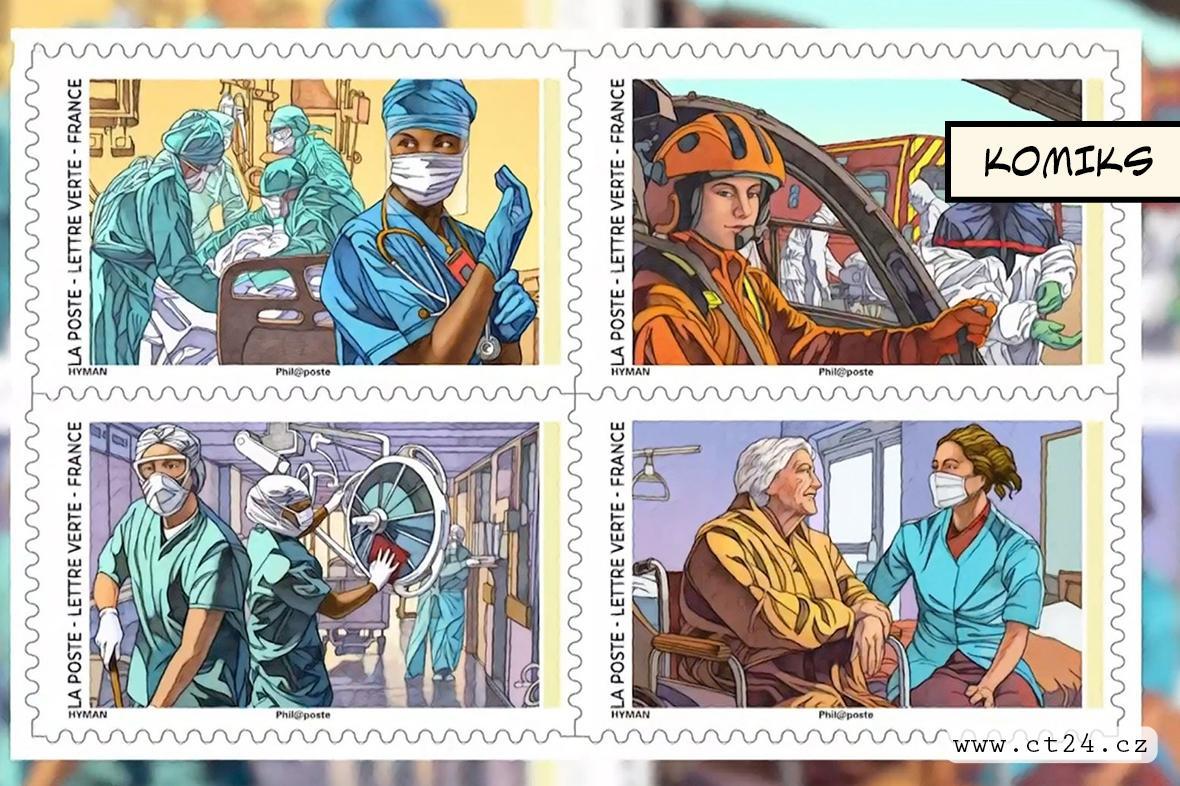 Poštovní známky jako hold zdravotníkům