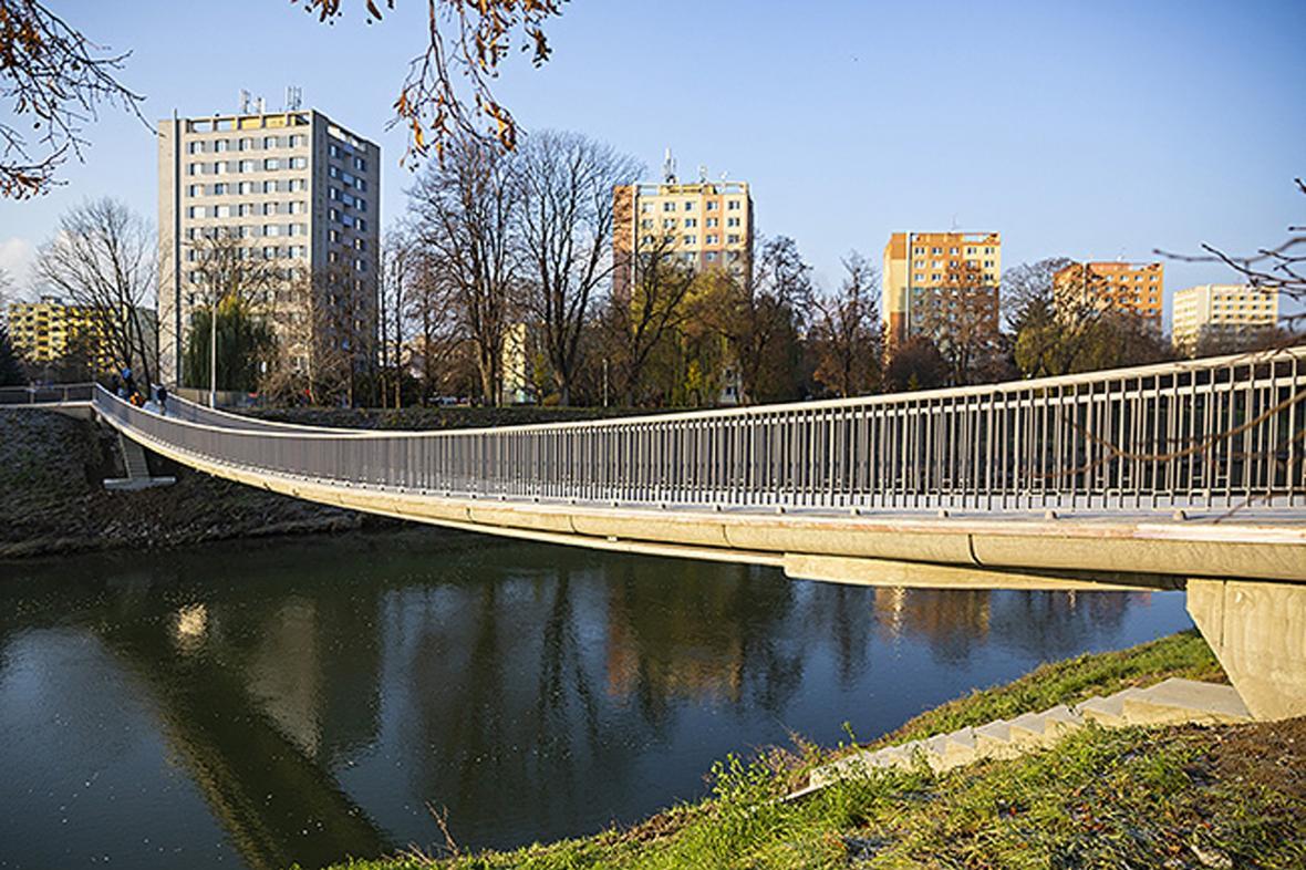 Zrekonstruovaná lávka v Kroměříži