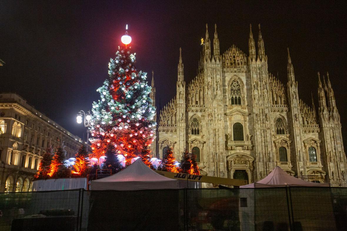 Vánoční strom v Miláně