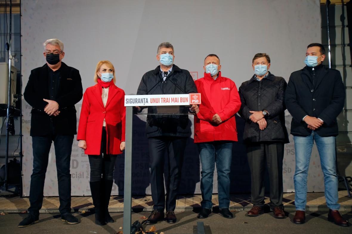 Lídr rumunské Sociálnědemokratické strany Marcel Ciolacu