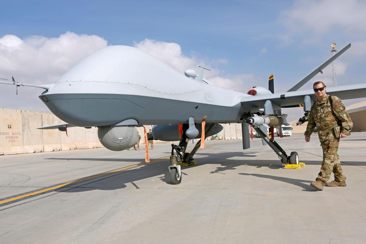 Americký dron MQ-9 v Afghánistánu