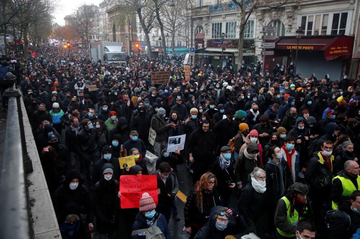 Demonstrace 12. prosince ve Francii