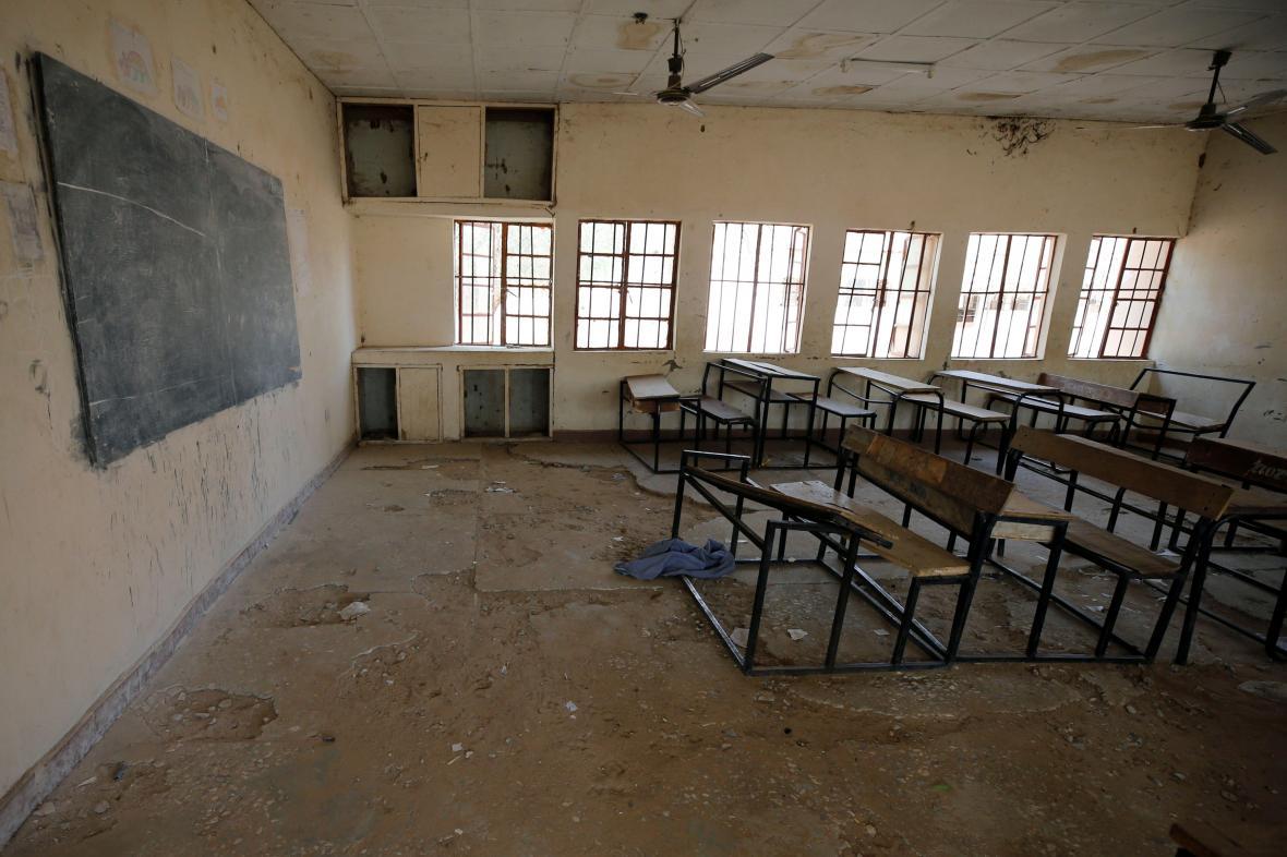 Prázdná třída v Nigérii po útoku islamistů