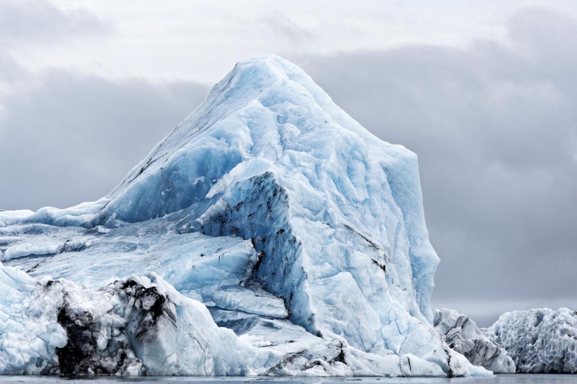 Ledovec na Islandu