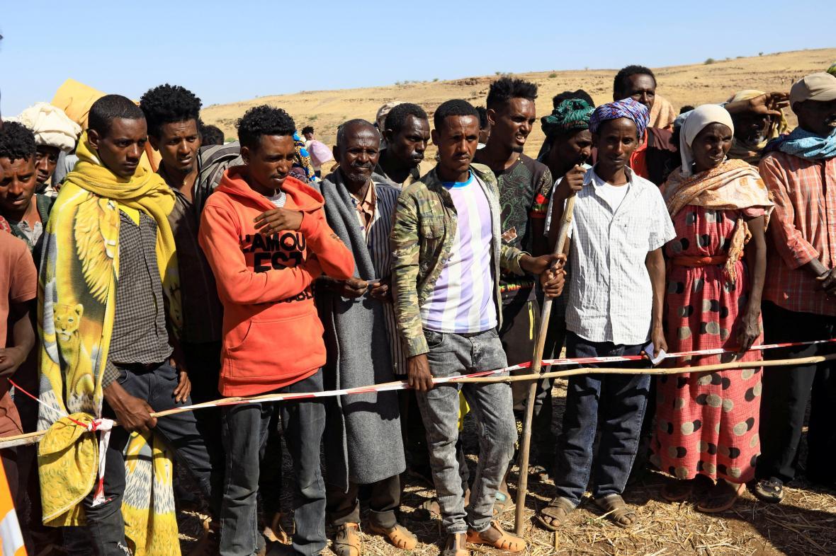 Etiopští uprchlíci