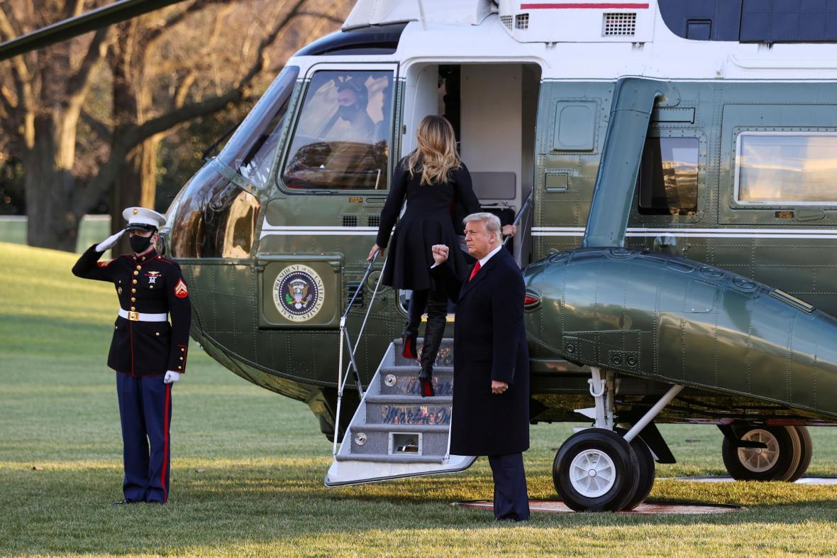 Melania a  Donald Trumpovi