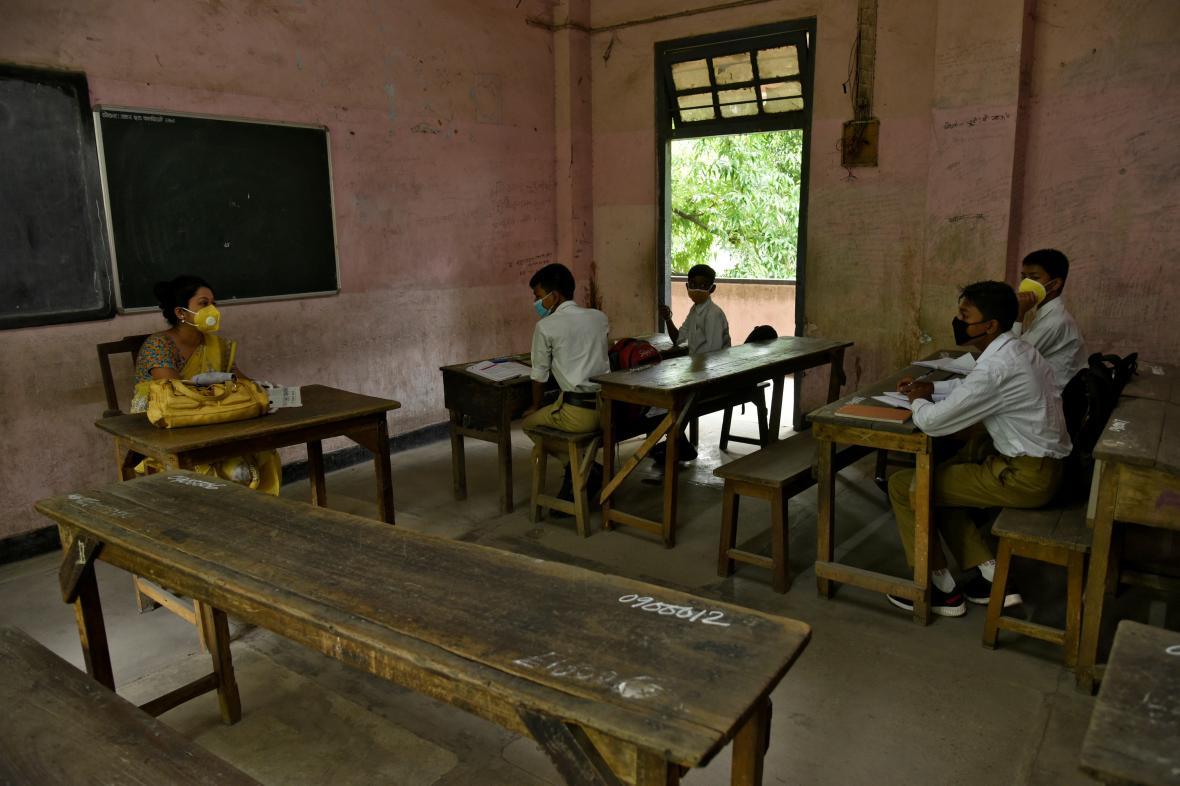 Škola v indickém Ásámu