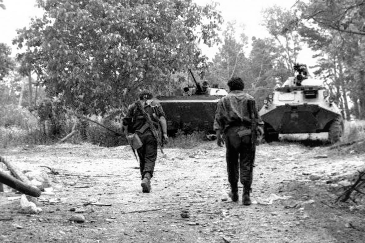 Gruzínští vojáci v Osetii v roce 1992