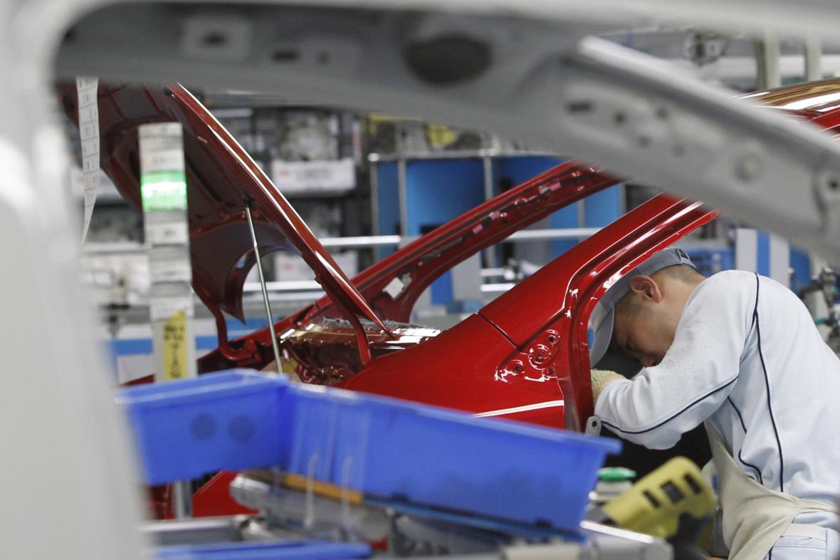 Výroba v závodě Toyota