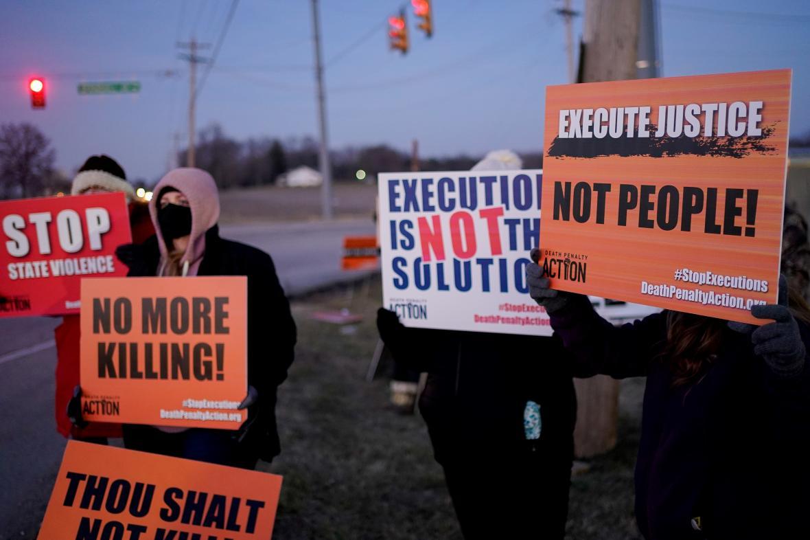 Protest proti popravě Montgomeryové