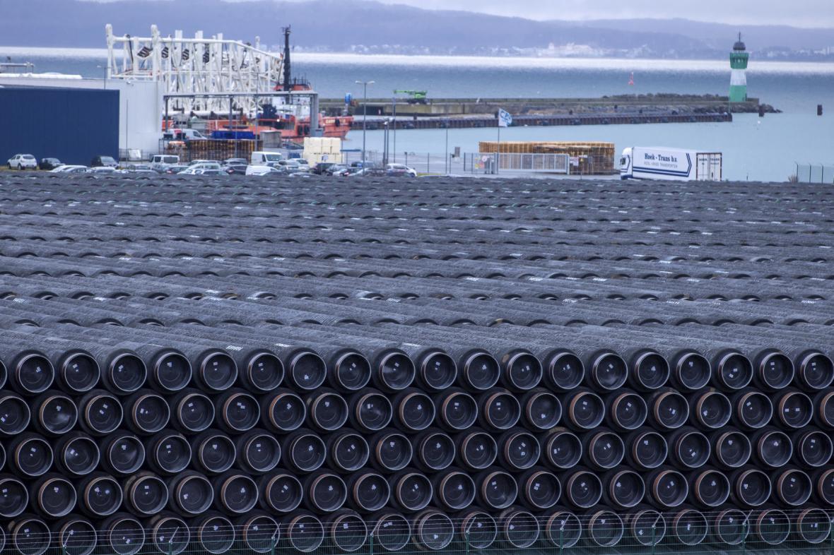 Připravený materiál na dostavbu plynovodu Nord Stream 2