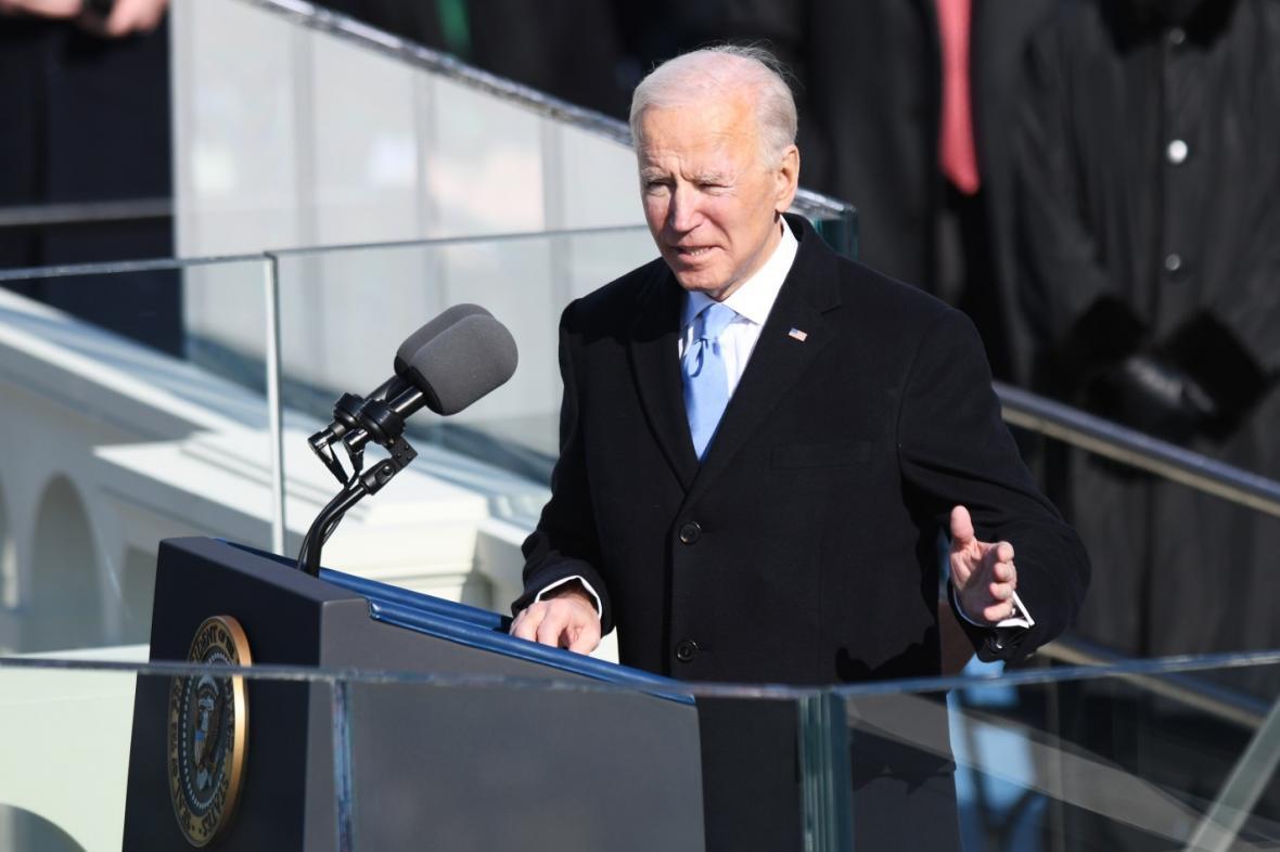 Americký prezident Joe Biden hovoří k národu