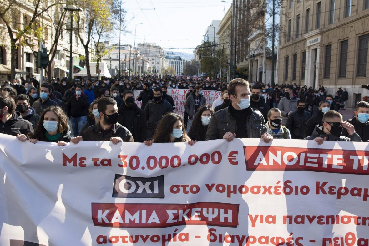 Protest v Aténách