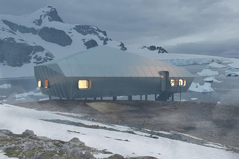 Návrh polární stanice na Antarktidě