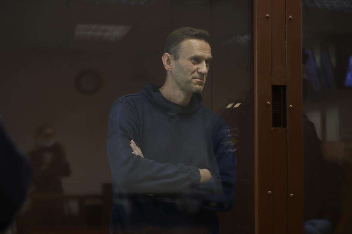 Alexej Navalnyj u soudu v Moskvě