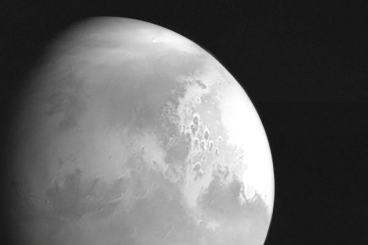 Fotografie Marsu z čínské sondy