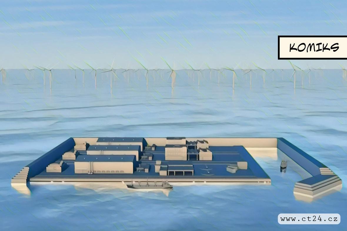 Dánsko plánuje postavit první energetický ostrov v moři. Jedná se o nejdražší projekt v historii země