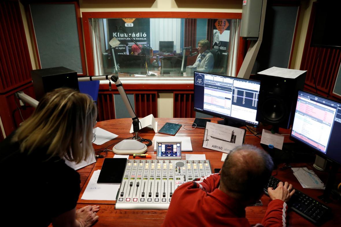 Studio maďarské stanice Klubrádió