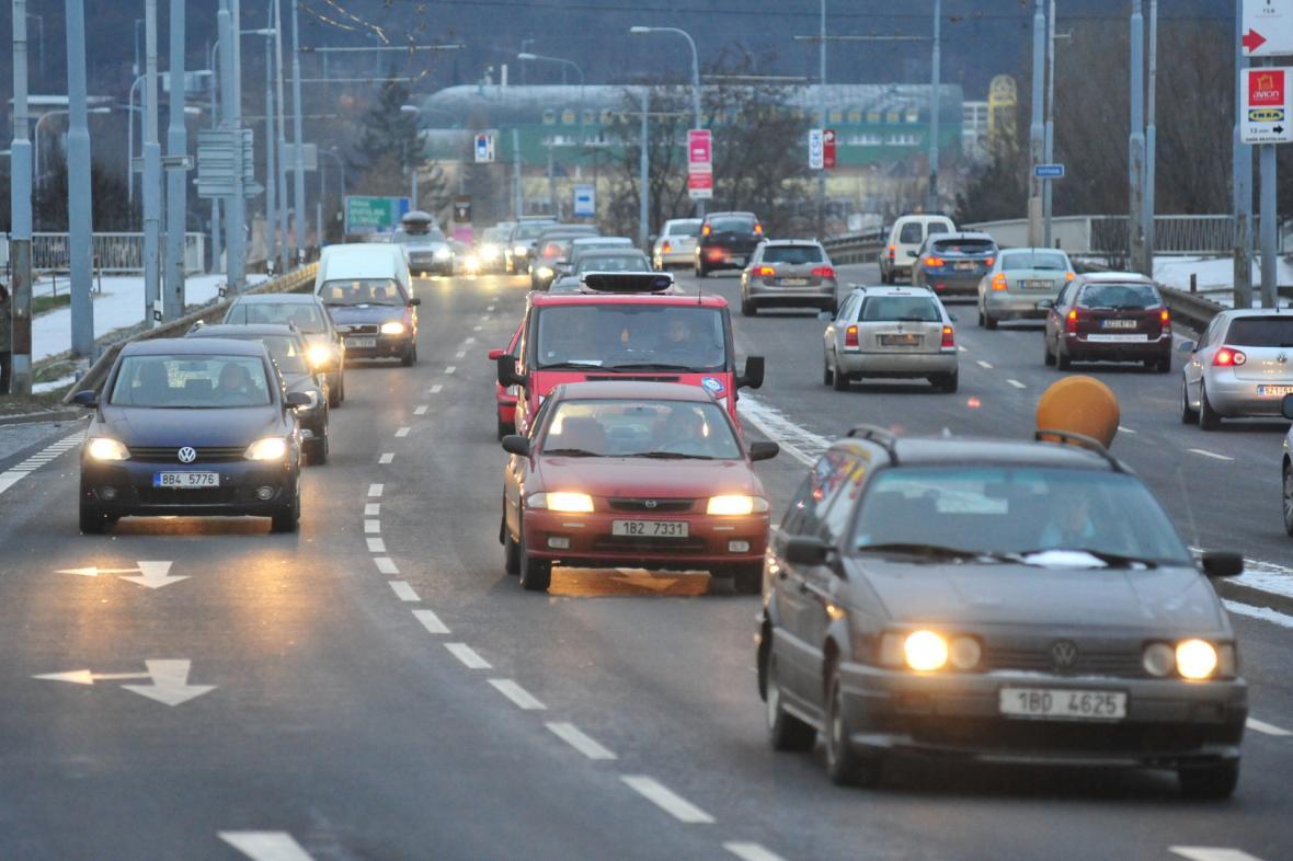 Provoz na Tomkově náměstí v Brně