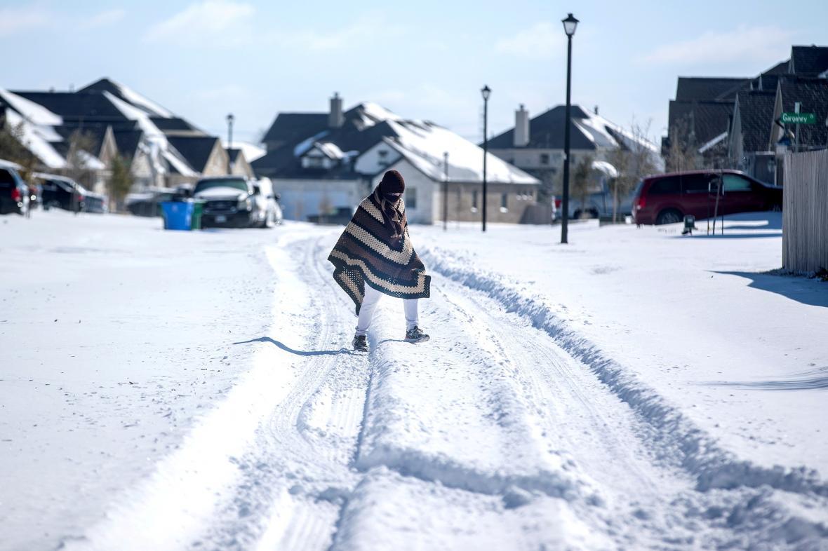 Mrazy v Texasu