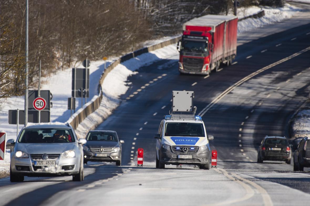 Německá hlídka na hranicích s Českem