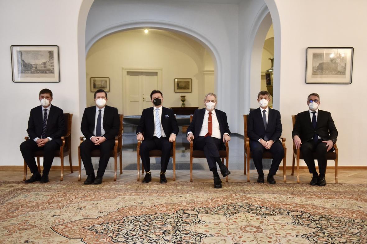 Setkání ústavních činitelů na Pražském hradě