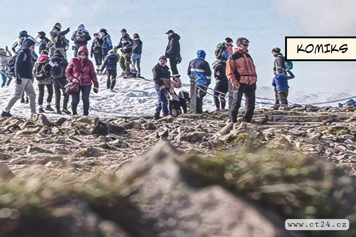 Nový trend turistů. V Krkonoších se loni častěji vypravili na cesty i večer či v noci