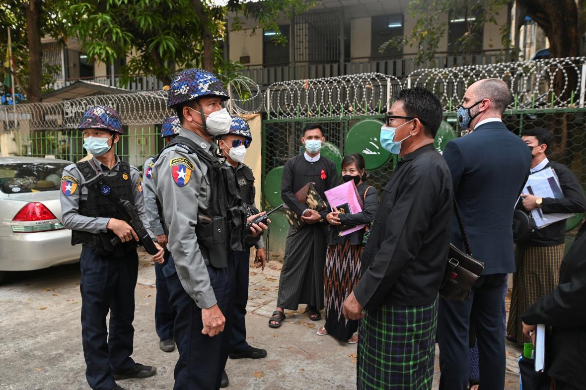Myanmarská policie