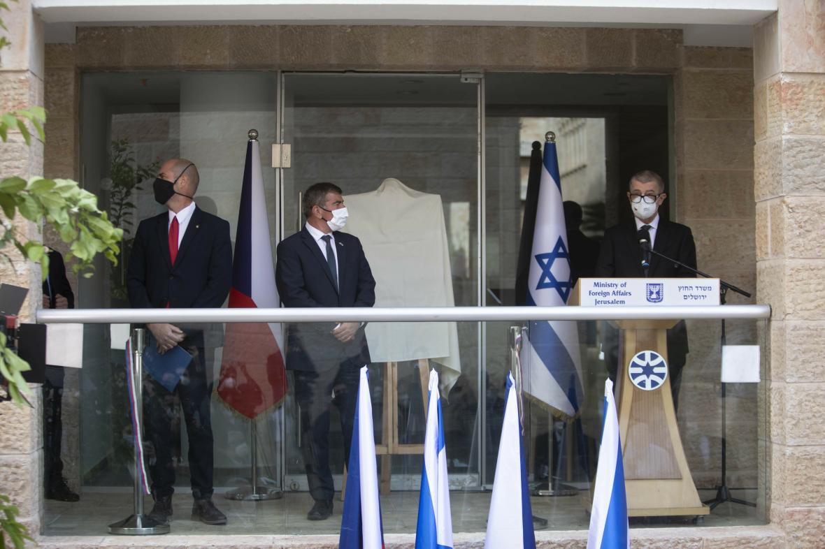 Otevření jeruzalémské úřadovny českého velvyslanectví v Tel Avivu