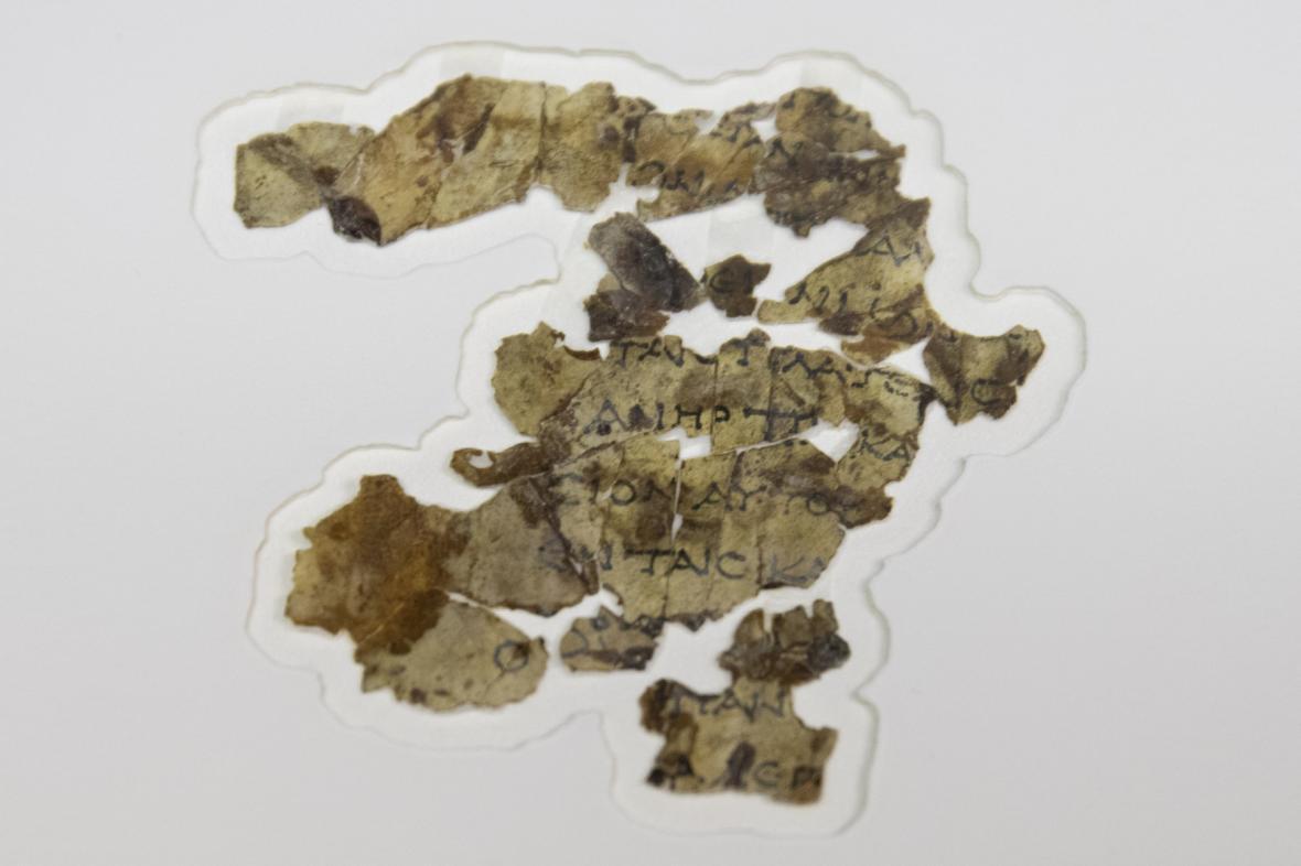 Nalezené fragmenty starobylých svitků