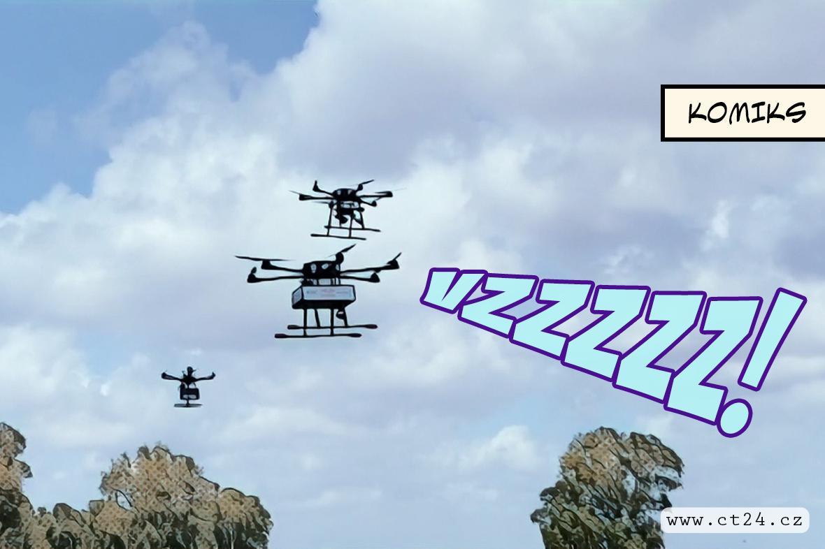 Izraelci testují donáškové drony ve velkých městech. Vozit chtějí třeba i pizzu