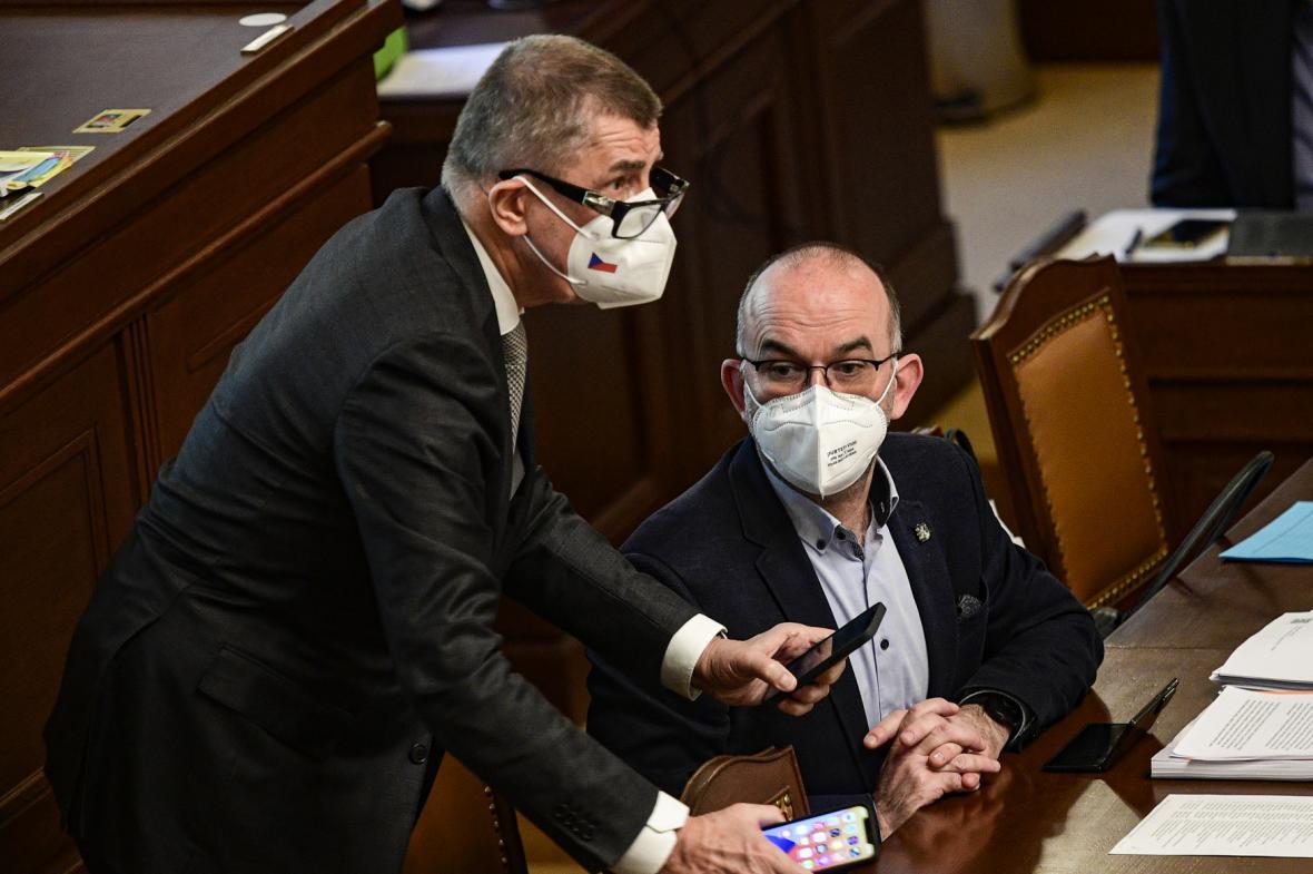 Andrej Babiš a Jan Blatný