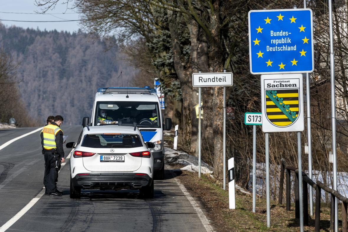 Kontrola na česko-saské hranici