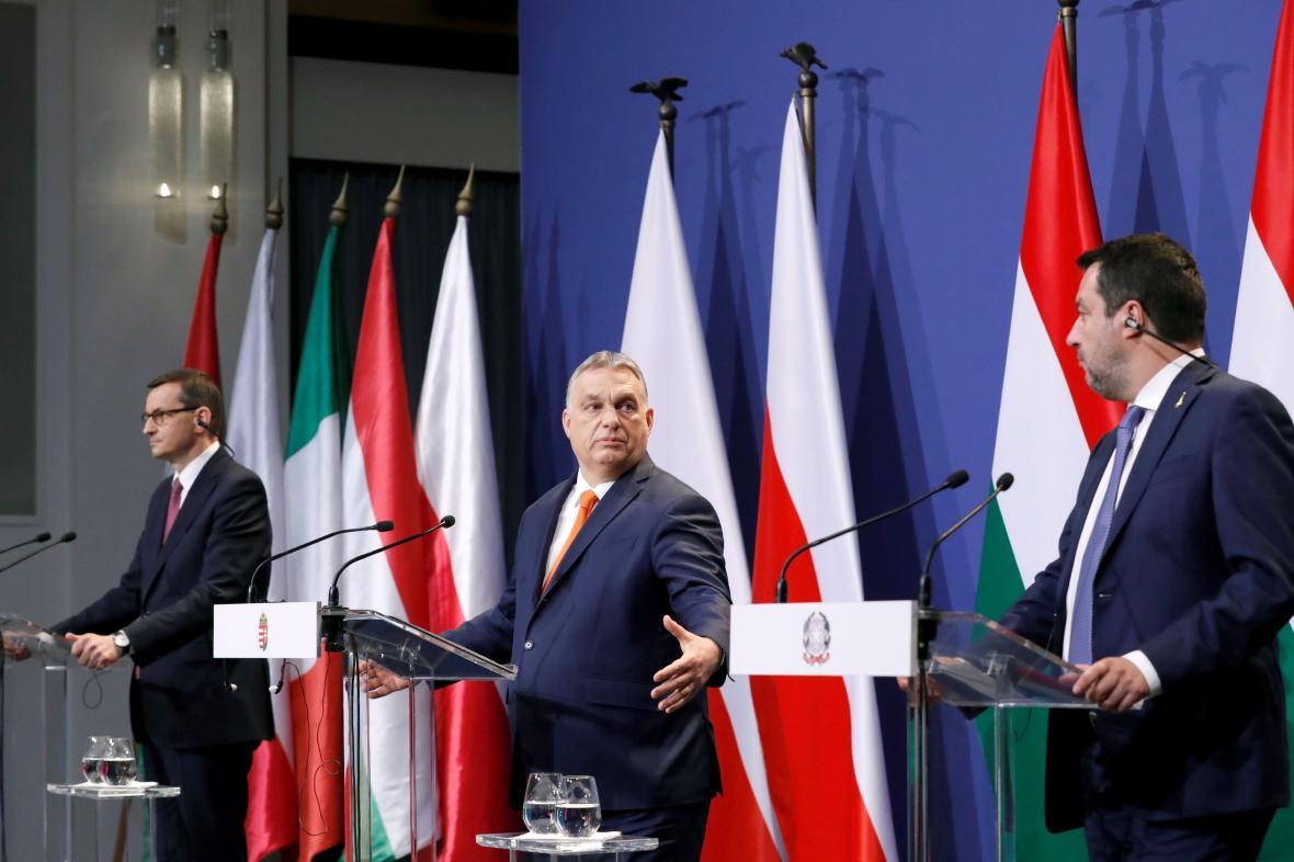 Morawiecki, Orbán a Salvini