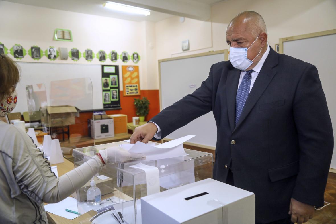 Bulharský premiér Bojko Borisov u voleb