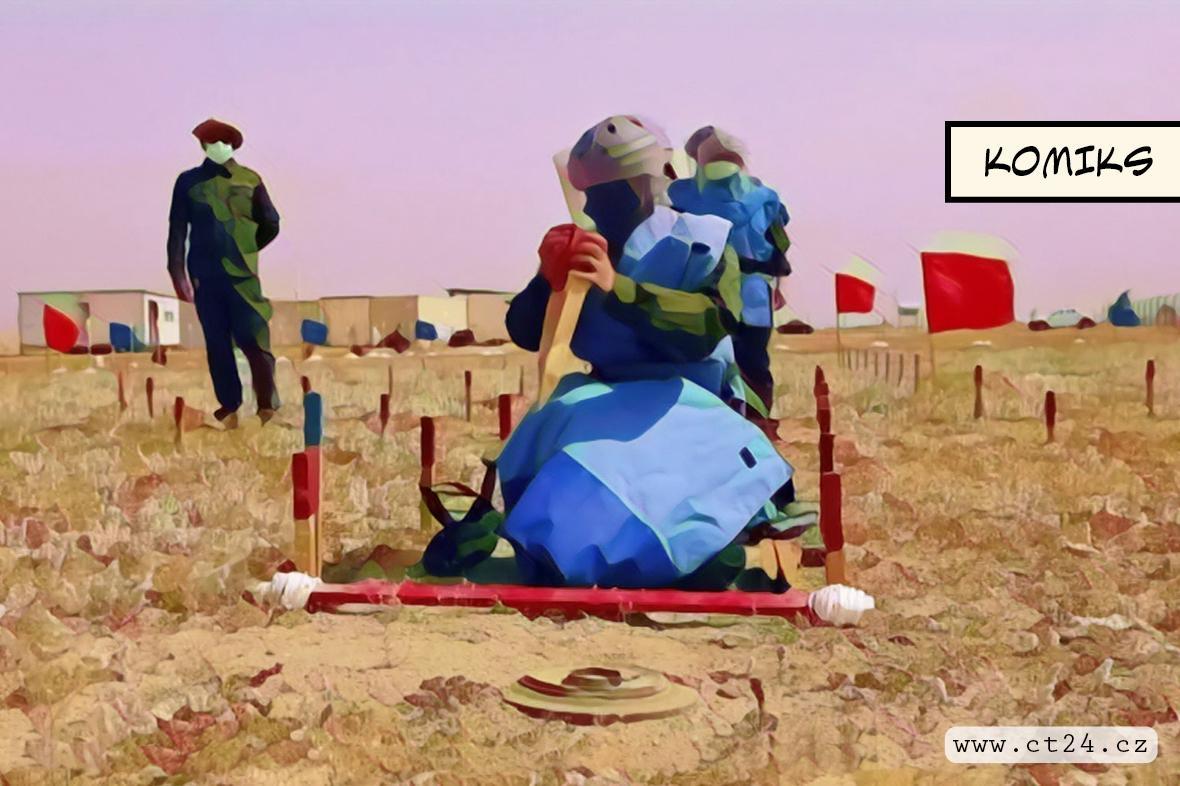 Irácké ženy pomáhají s odstraňováním min