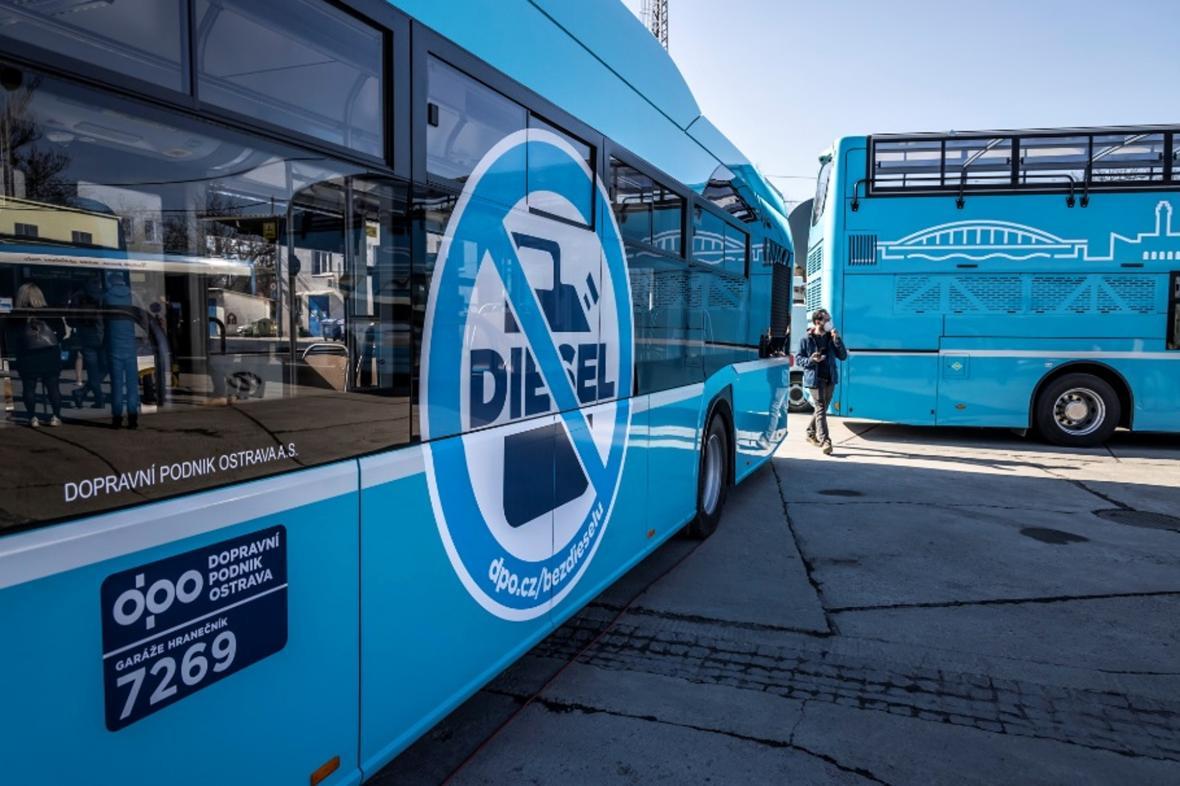 Ekologické autobusy v Ostravě