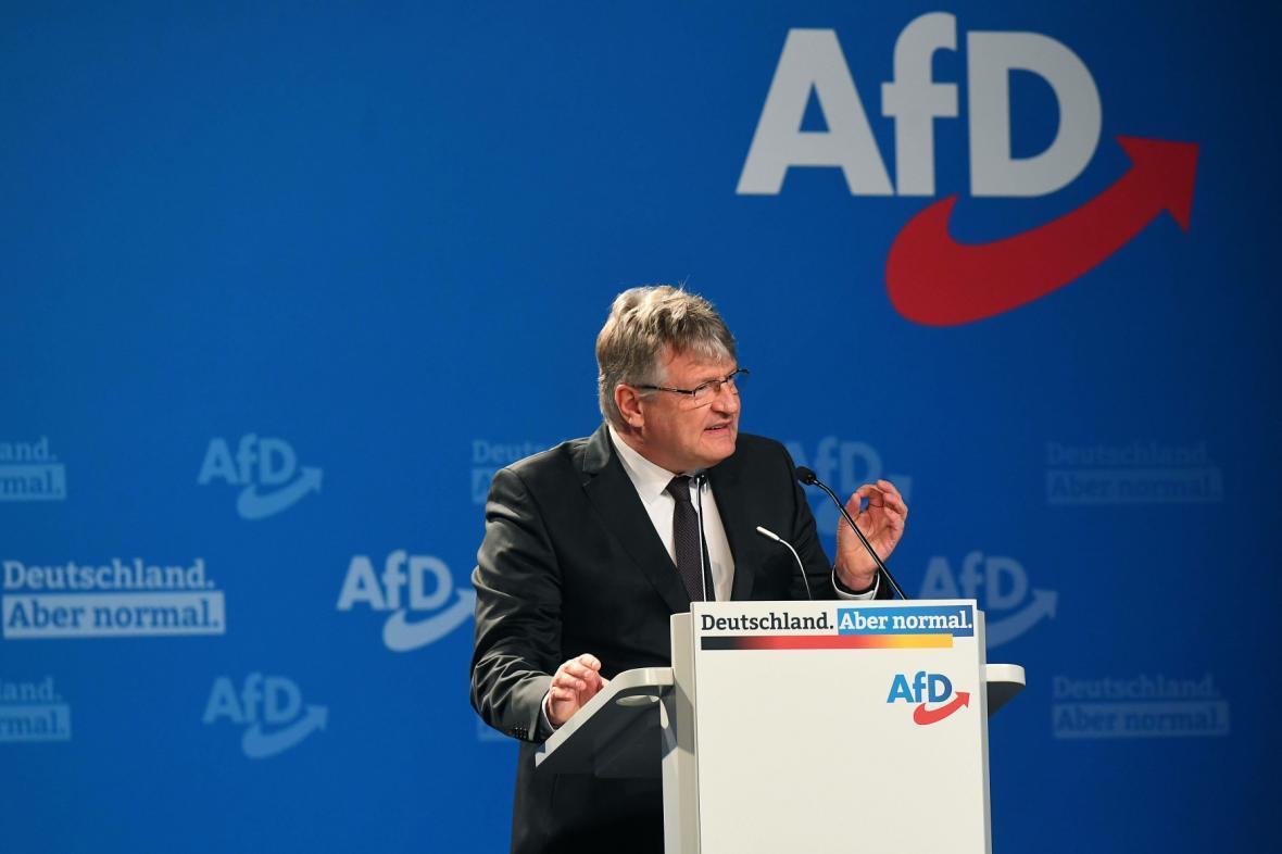 Spolupředseda strany AfD Jörg Meuthen v Drážďanech