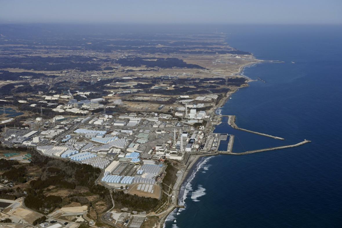 Pohled na fukušimskou elektrárnu