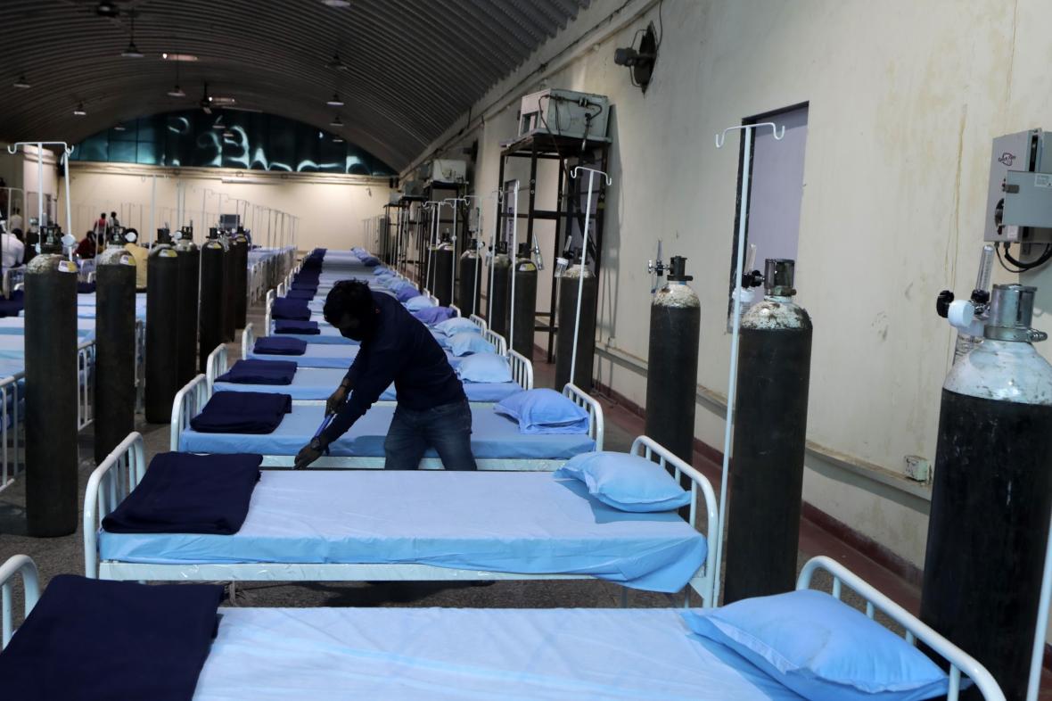 Covidová nemocnice v Indii