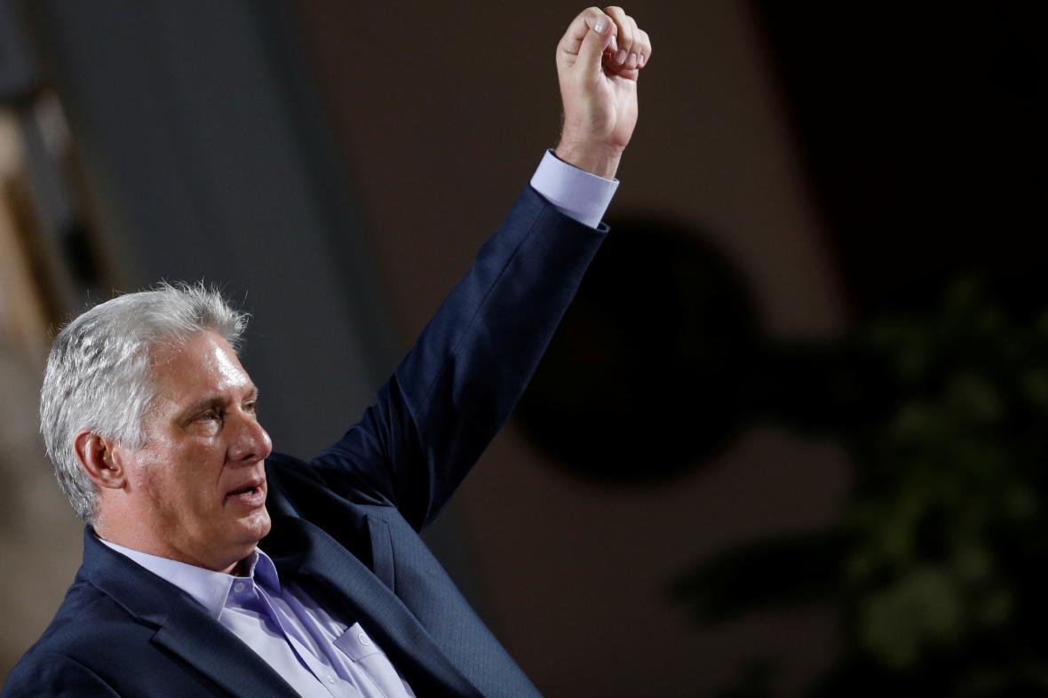 Kubánský prezident Díaz-Canel