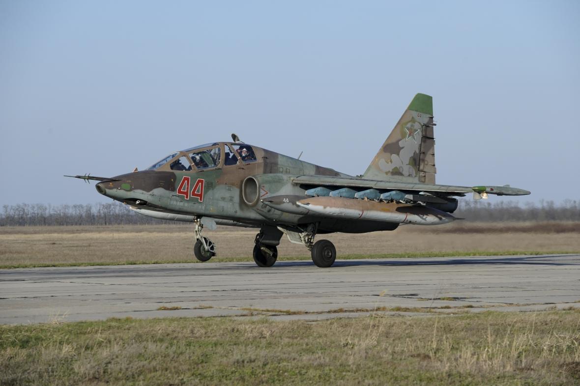 Ruský letoun Su-25 (ilustrační foto)