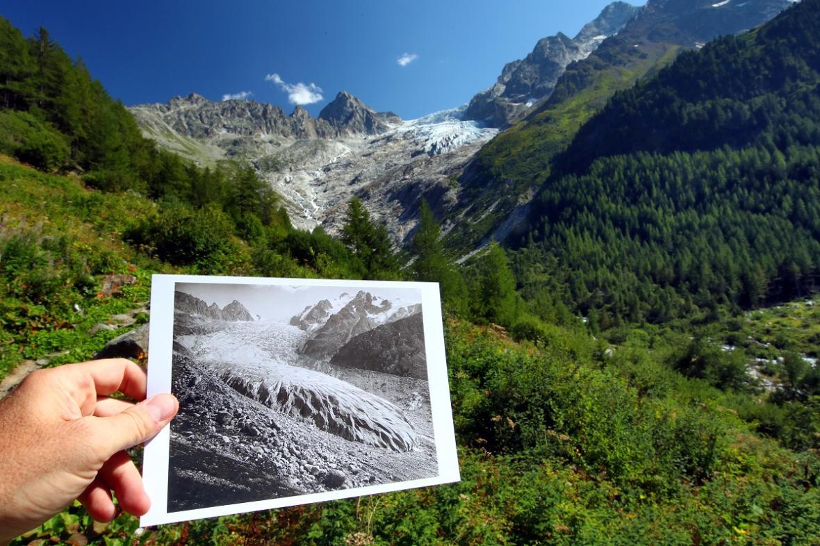 Ústup ledovce ve Švýcarsku