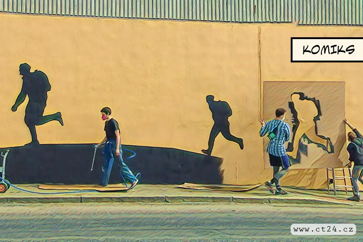 Atentát na Heydricha očima umění. Nový mural o slavné akci československých výsadkářů zdobí stěnu v Kobylisích
