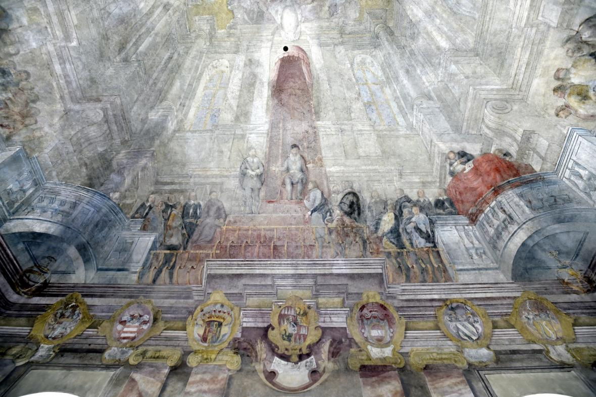 Obnovená freska na brněnské Nové radnici